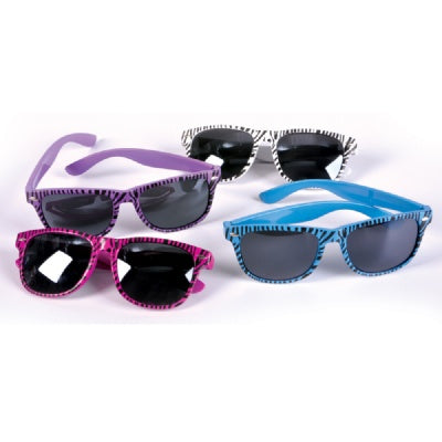 Zebra Print Sunglasses (Bulk Pack of 12 Sunglasses)