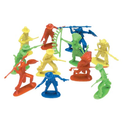 2-3-inch Cowboy And Indian Assortment (Bulk Pack of 144 Pieces)