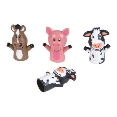 2-inch Farm Animal Finger Puppets (Bulk Pack of 12 Puppets)