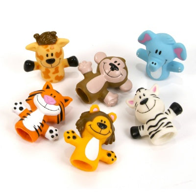 2-inch Zoo Animal Finger Puppets (Bulk Pack of 12  Puppets)