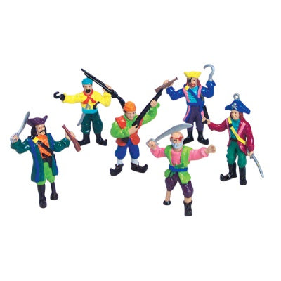 2.5-inch Pirate Figures (Bulk Pack of 12 Pirates)