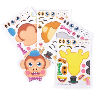 Make A Zoo Animal Sticker (12 Sheets)