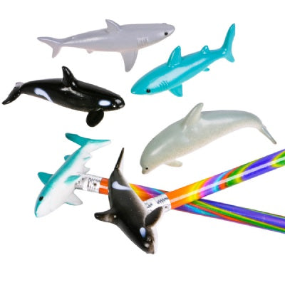 Bulk Shark, Orca, & Dolphin Pencil Toppers (1 Topper)