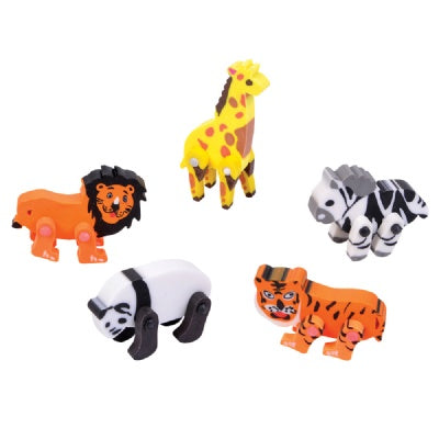 2-inch Moveable Animals Eraser (1 Eraser)