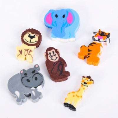 1-inch Mini Zoo Animal Erasers (1 Eraser)