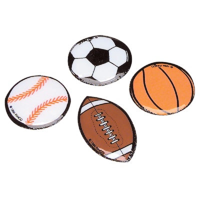 1.5-inch Puff Sports Ball Stickers (Bulk Pack of 144 Stickers)