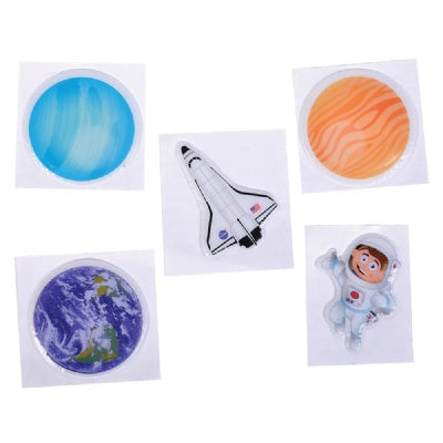 1.5-inch Puffy Space Stickers (1 Sticker)