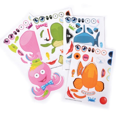 Make A Sea Life Animal Stickers (12 Sheets)