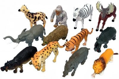 Bulk Pack of 12 Large Wild Animals
