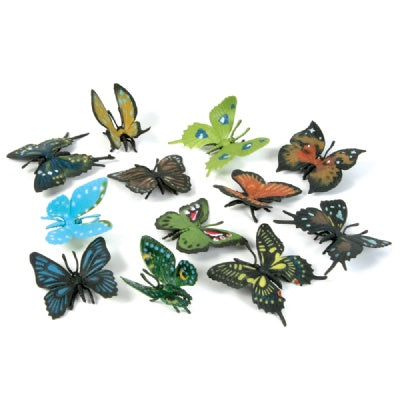 2.25-inch Butterfly Assortment (Bulk Pack of 12 Butterflies)