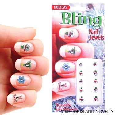 Holiday Bling Nail Jewels Pack of 12