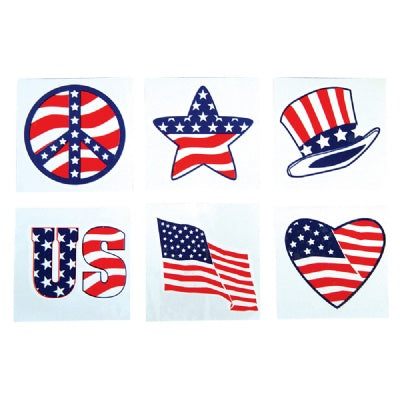 2-inch Patriotic Tattoos (1 Tattoo)