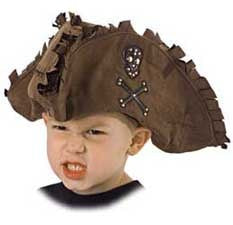 Kid's Tattered Pirate Hat