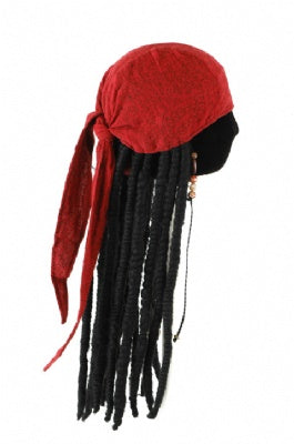 Jack Sparrow Head Wrap with Dreads