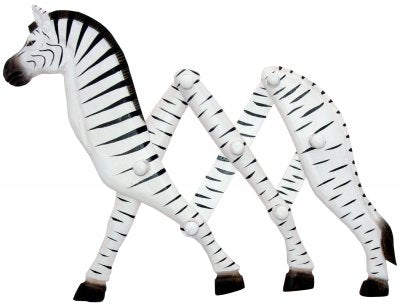 Wooden Zebra Clothes Rack