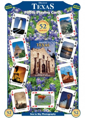 Discover Texas Playing Cards