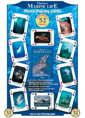 Discover Marine Life Playing Cards