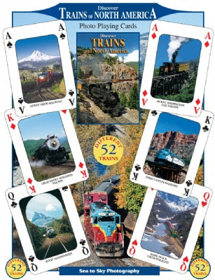 Discover Trains of North America Playing Cards