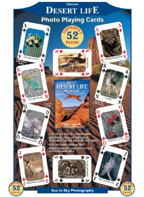 Discover Desert Life Playing Cards