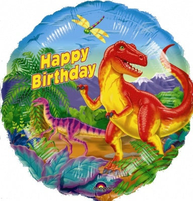 Dinosaur Party Metallic Balloon