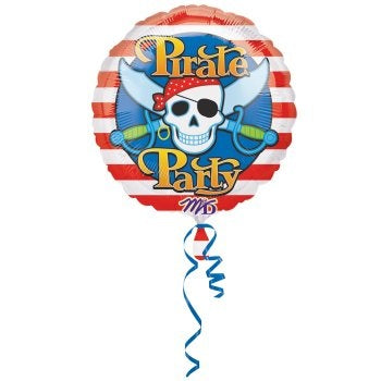 Pirate's Skull Super Shape Metallic Balloon
