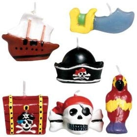 Pirate's Treasure Mini Molded Cake Candles