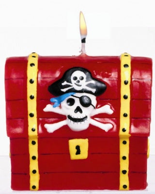 Pirate's Treasure Chest Cake Candle