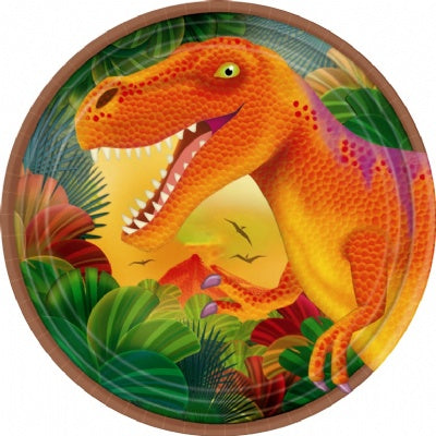 "Prehistoric Party 7"" Plates"