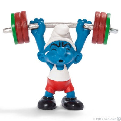 Olympic Smurfs: Weightlifter Smurf