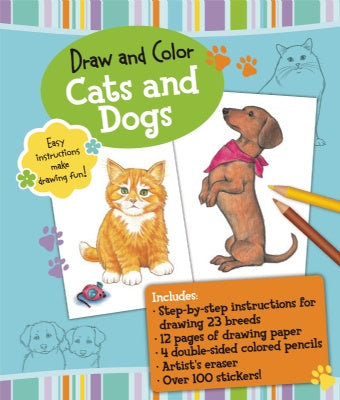 Draw and Color Cats and Dogs