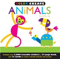 Color Create Animals Sticker Book