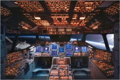 (E5) Space Shuttle Cockpit Poster