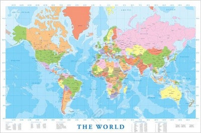 (E16) Map of the World 2 Poster