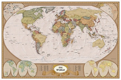 (E17) Map of the World 1 Poster