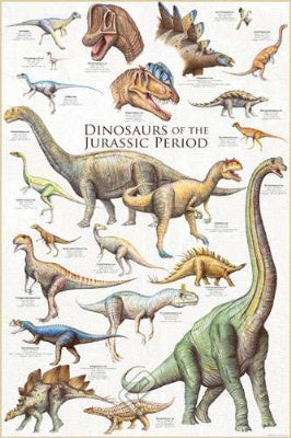 (E49) Dinosaurs of the Jurassic Period Poster