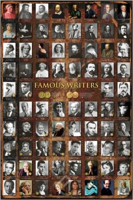 (E61) Famous Writers Poster