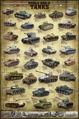 (E84) World War II Tanks Poster