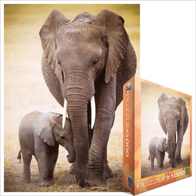 Elephant and Baby Puzzle