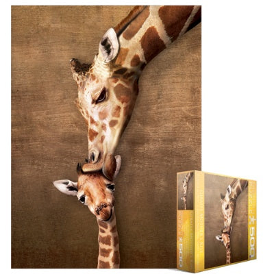 Giraffe Mothers' Kiss Puzzle