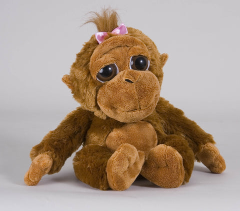 "7"" Bright Eyes Orangutan w/Pink Bow"