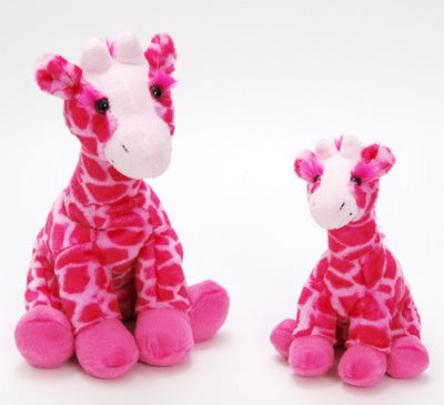 "14"" Posh Plush Floppy Pink Giraffe"