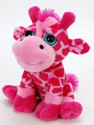 "7"" Bright Eyes Pink Giraffe"
