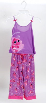 Clowing Around Pink 2 Piece Pajama Set Size 2T
