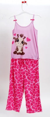 Giraffe Love 2 Pc Pajama Set Size 2T