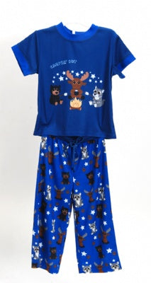 Campin' Out Blue 2 Piece Pajama Set Size 3T