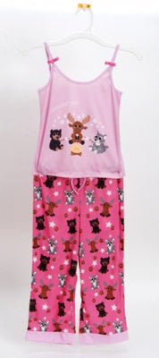 Campin' Out Pink 2 Piece Pajama Set Size 3T