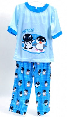 Chillin' Out Blue 2 Piece Pajama Set Size 2T