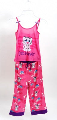 Cat Nappin' 2 Piece Pajama Set Size 2T