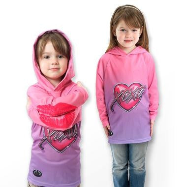 Child XOXO Heart Hoodie Shirt