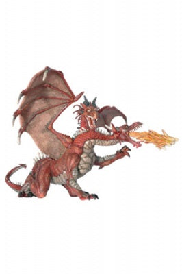 Papo Two Headed Dragon Red